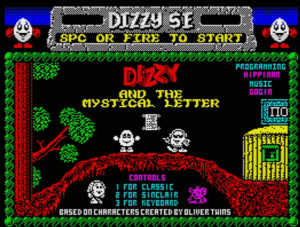 Zx Spectrum - Dizzy and the Mystical letter